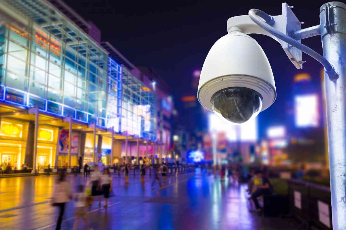 Exterior Dome Camera on Street